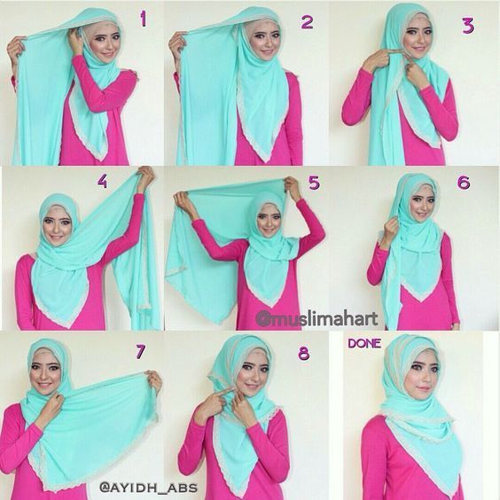 This hijab tutorial is so easy as it only requires you wraping your hijab until there's no fabrc to wrap, it's simple, comfy and looks so beautiful. To get this look, follow the steps below: 1. Place the hijab on…-Hijab Tutorials