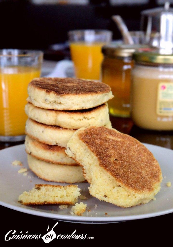 Harcha à l'anis pour un petit déjeuner marocain en deux trois mouvements ! - Cuisinons En Couleurs