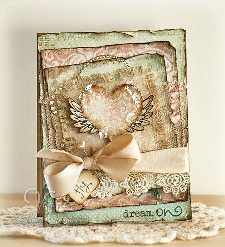 A lovely card (made be the lovely Laurie Schmidlin) using gorgeous Kaisercraft paper - must have in my collection!