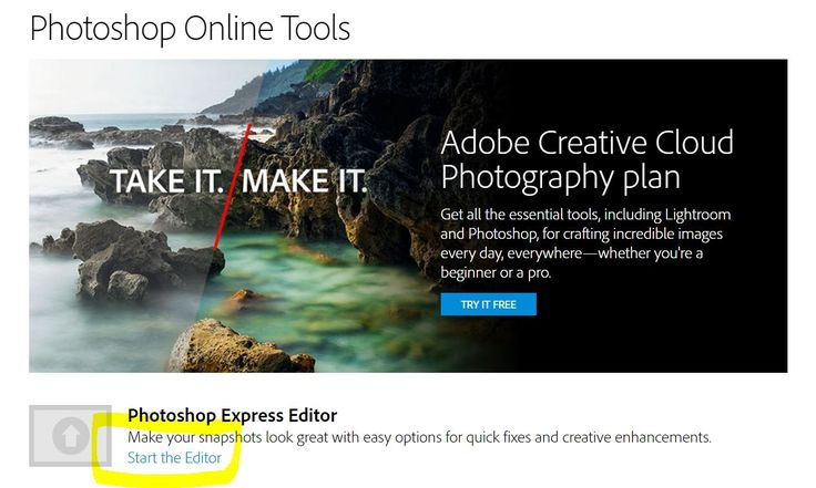 Photoshop Express Editor Screenshot