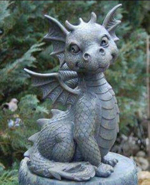 Dragon garden statue