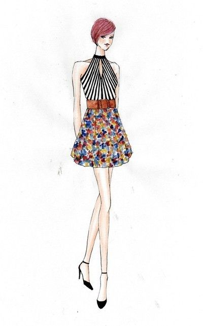 153 best Fashion Sketches images on Pinterest