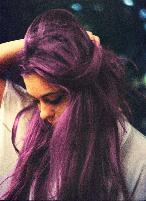 Royal purple hair.
