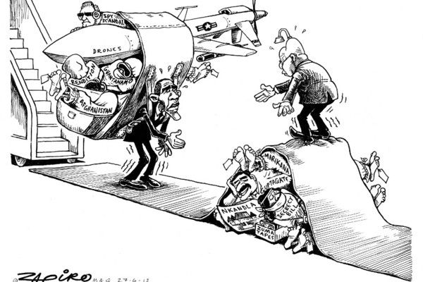 Zapiro: Zuma and Obama: The meeting - Mail & Guardian
