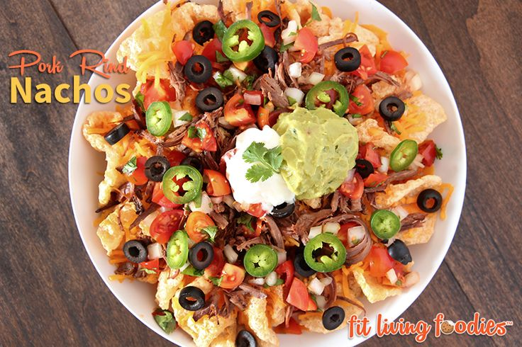 Who says nachos are reserved just for chips? Break the rules and use pork rinds for these pork rind nachos!