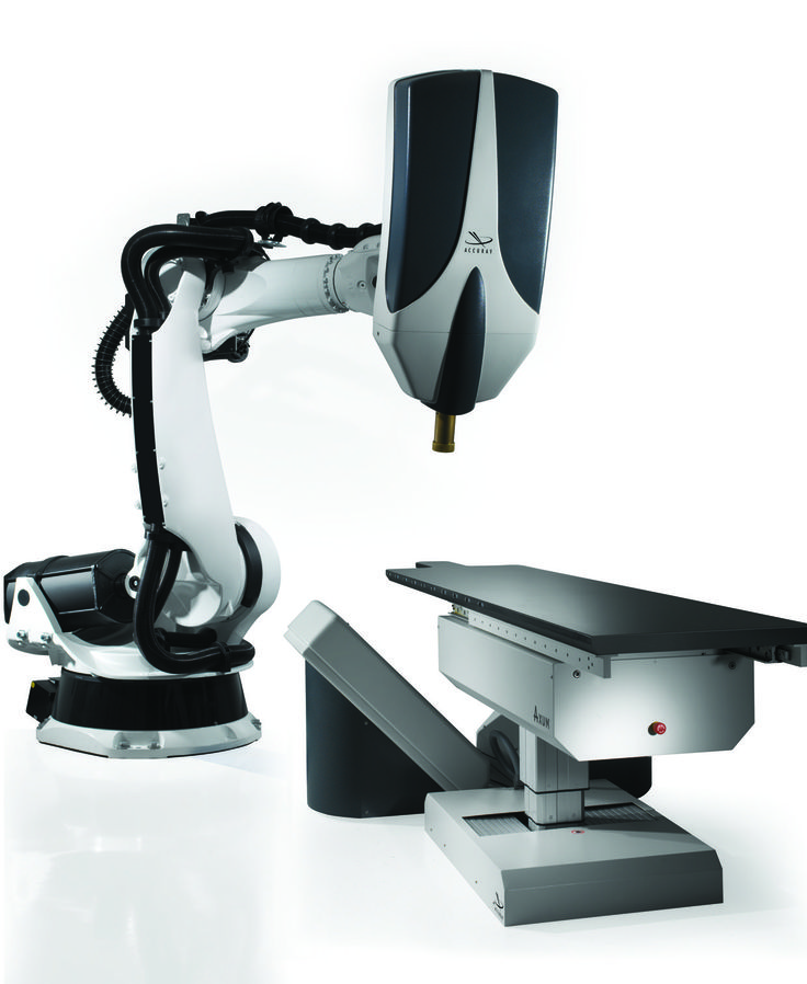 The CyberKnife® Robotic Radiosurgery System is a non-invasive alternative to surgery that allows delivery of a large, precise dose of radiation to tumors without endangering nearby healthy tissue. We're proud to offer this technology at Carilion Clinic. Click to learn more about CyberKnife®.
