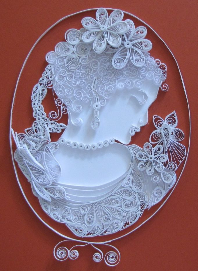Quilling number 8 just completed.