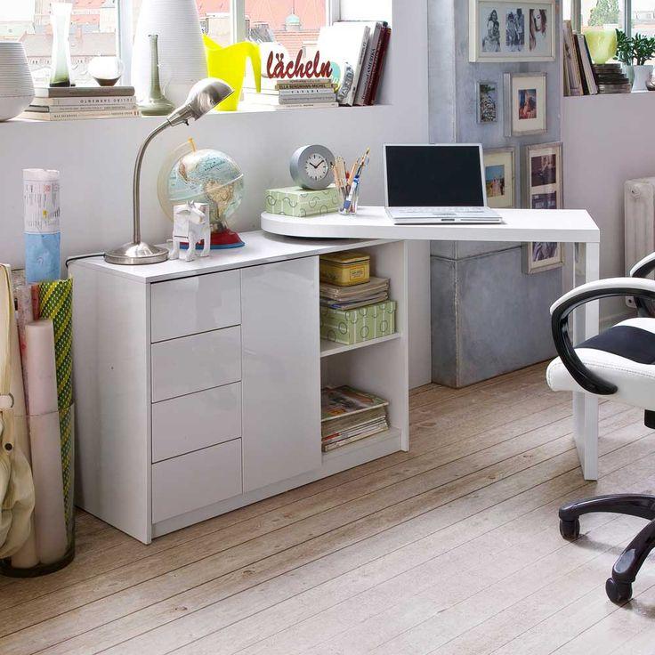 Epic Schreibtisch mit Schrank Hochglanz Wei Jetzt bestellen unter https moebel ladendirekt