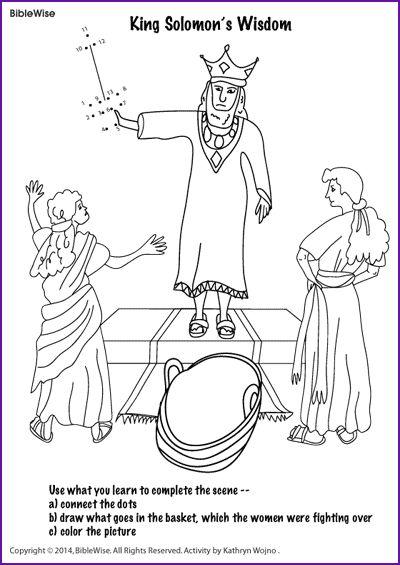 King Solomon 39 s Wisdom Kids Korner BibleWise Bible