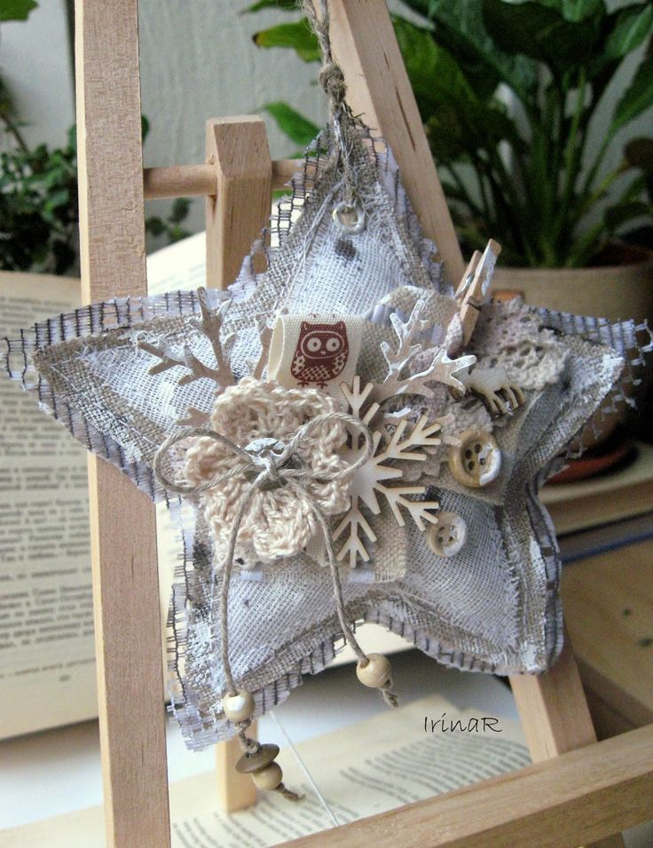 Handmade Christmas Ornament - елочные украшения, rustic