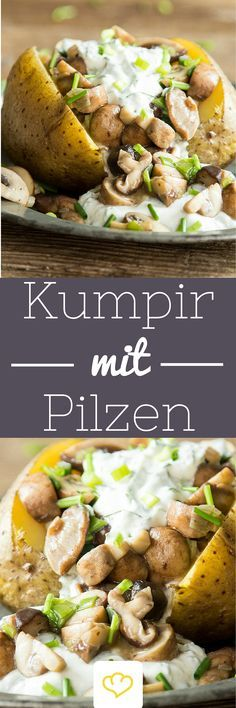 Warme Ofenkartoffel mit herzhafter Füllung aus gebratenen Pilzen, Radieschen und Kräutern   www.lavita.de