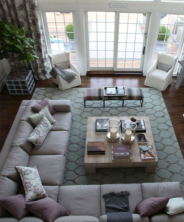 25 best ideas about large living rooms on pinterest - How to decorate odd shaped living room ...