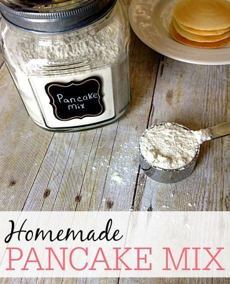 Skip the store-bought pancake mix and try this great homemade pancake mix. It not only will save you money, but it makes the best pancakes too!