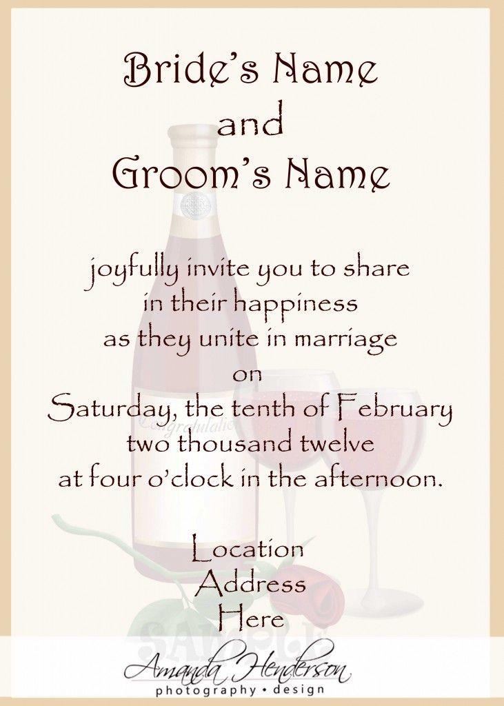 informal wedding invitation wording afrikaans | Wedding inspire ...