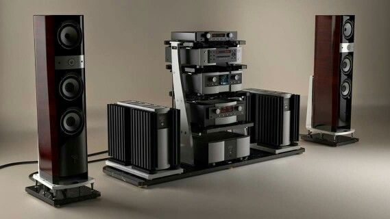 Focal speakers & Mark Levinson electronics with JTL Audio STB2 audio rack system