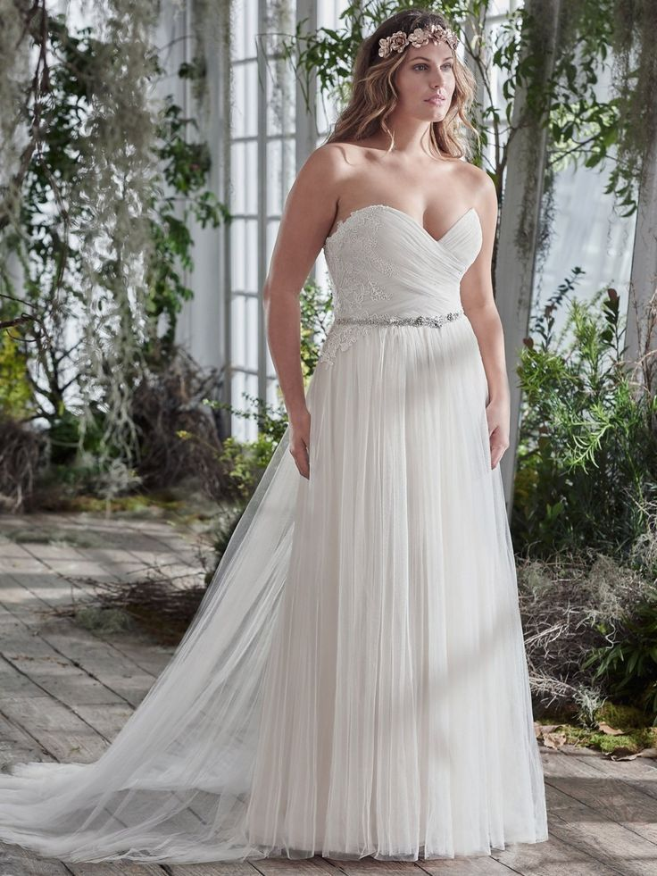 Maggie Sottero   PATIENCE  This stunning tulle sheath plus size wedding gown  is accented with50 best Plus Size Wedding Dresses images on Pinterest   Designer  . Plus Size Wedding Dress Designers. Home Design Ideas