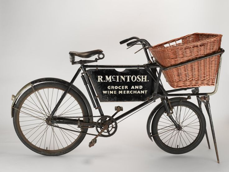 This Hercules low-gravity tradesman's bicycle, used by R. McIntosh, Grocer and Wine Merchant in Jedburgh.