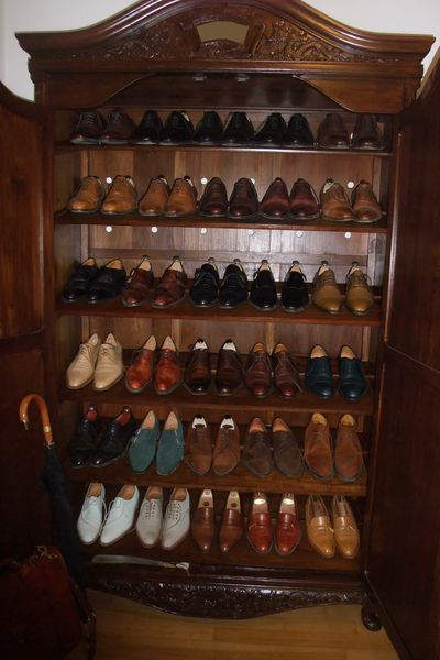 Forumites know the dilly. You're looking at all Lobbs, all Greens. Stored in a Burmese teak cabinet. Peep the madness here.