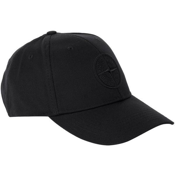 Stone Island Embroidered Logo Baseball Cap ($105) ❤ liked on Polyvore featuring accessories, hats, adjustable hats, ball cap hats, baseball hat, baseball caps and stone island hat