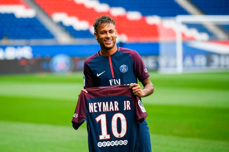 The worlds most expensive footballer is unveiled... Neymar JR signs with Paris Saint-Germain from Barcelona FC for €222 million!