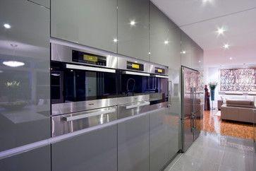 Gray Modern Home Kitchens Design Ideas,