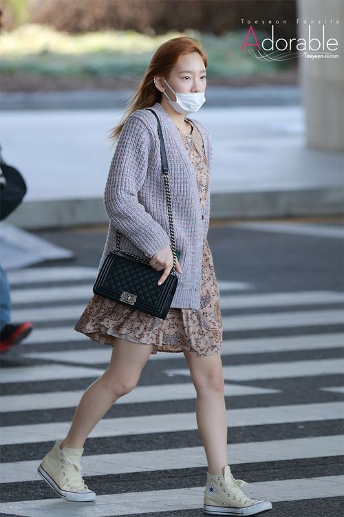 Snsd Taeyeon Korean Stars Airport Fashion Casual Style Pinterest Posts Snsd And Fashion