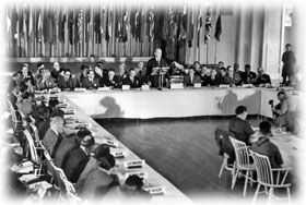 1944 Bretton Woods Conference creates International Monetary Fund and World Bank (July 1–22).