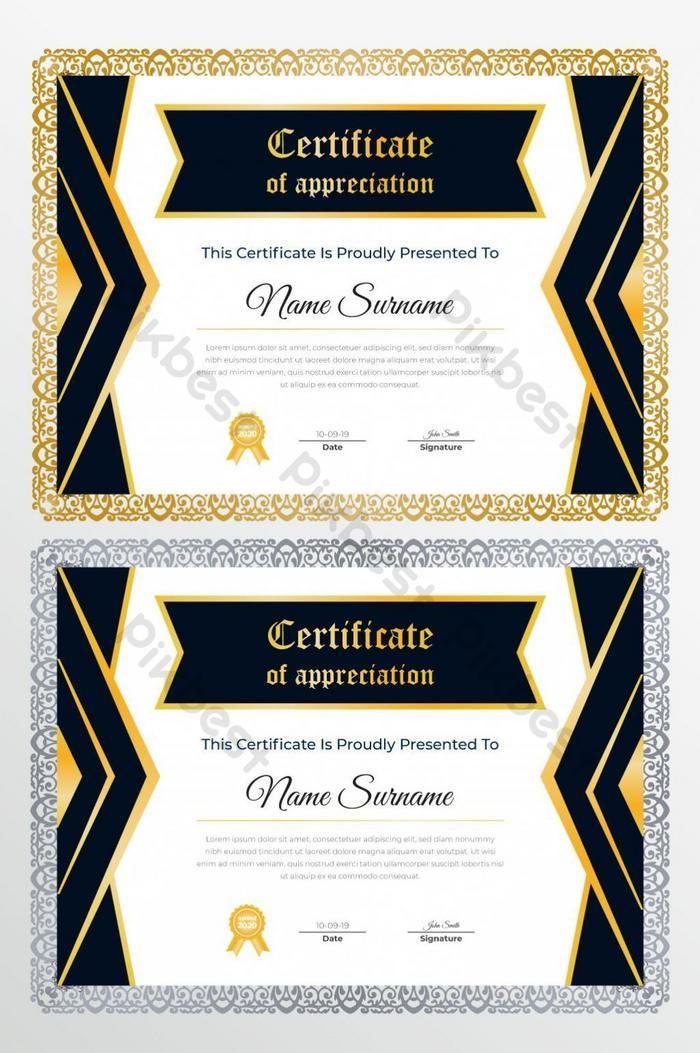 شهادة الإبداعية الحديثة من قالب تصميم شهادة التقدير Pikbest Templates Certificate Others Certificate Of Appreciation Appreciation Creative