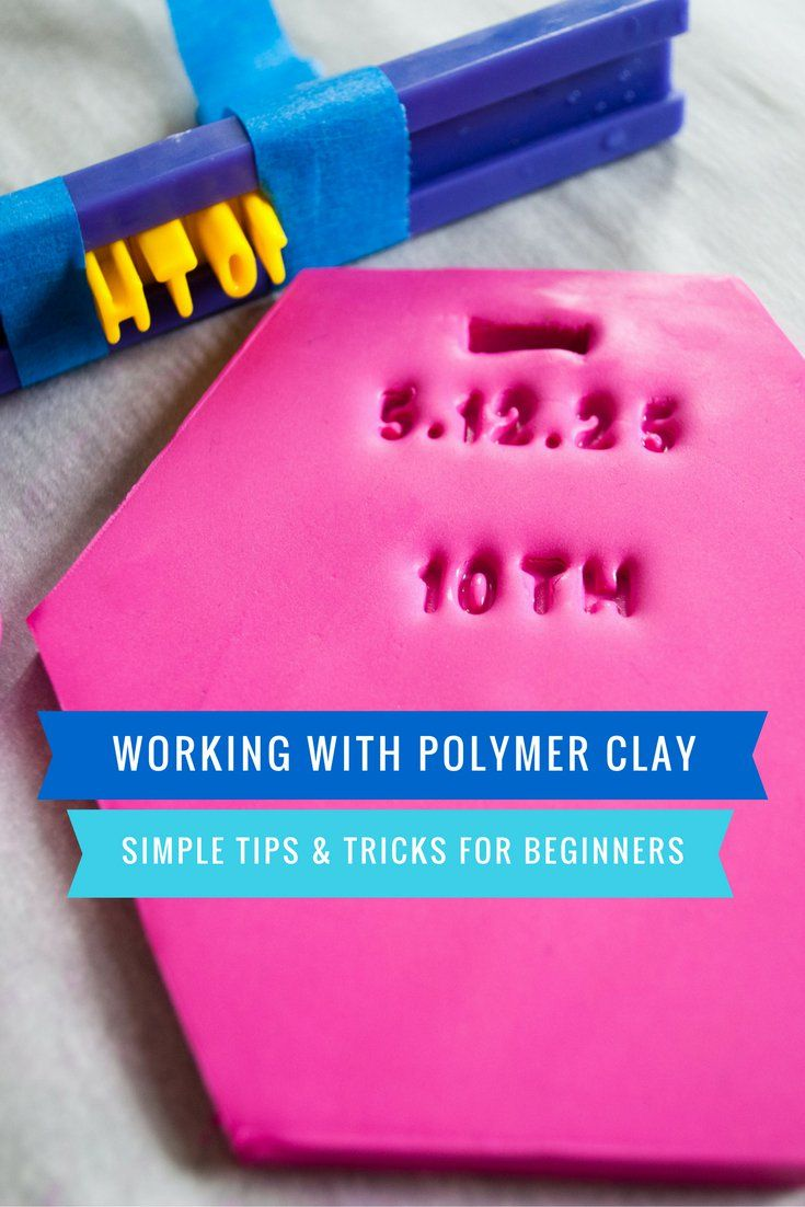 Simple tips and tricks for working with polymer clay. Great for beginners!