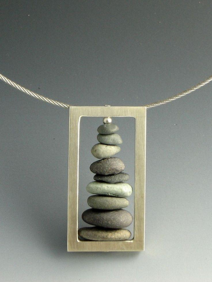 Custom Made Stacked Stone Pendant