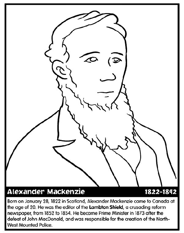 canadian prime minister mackenzie coloring page along with several other prime ministers