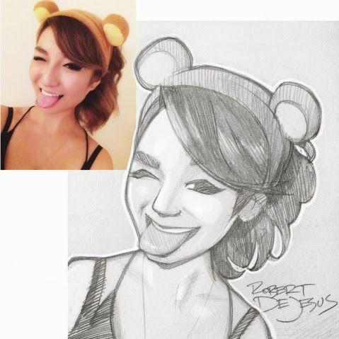 Pessoas desenhadas como personagens de Animes e Mangás     Muita expressão e traços simples ,que encantam nos desenhos de pessoas desc...