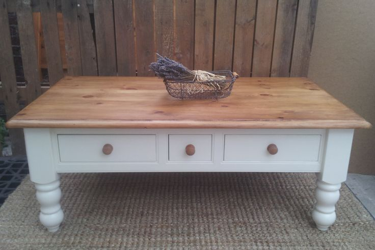 chunky pine farmhouse coffee table. Re-loved by https://www.facebook.com/myfarmhousevintage/?ref=hl