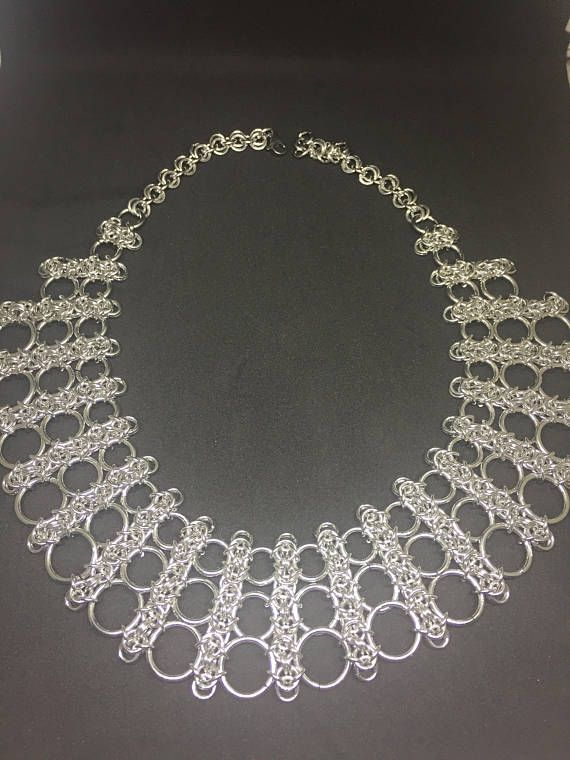 Chainmaille collar necklace
