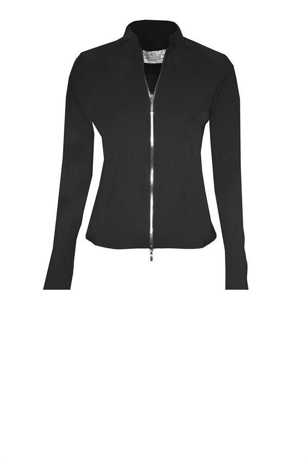 Jane lushka marine kleurige travel blazer jasje jacket colbert blazer met staande kraag. Kunstof rits met zilver accenten en deelbaar. In de coupnaad zijn zakjes verwerkt. 72% polyamide en 28% elasthan. Wasbaar op 30 graden wolwas. Easy to care (licht in gewicht-kreukvrij-gemakkelijk wasbaar) Getailleerd. Ruglengte bij een maat s is 56 cm. Vallend tot op de heup. Ongevoerd. Zowel sportief als zakelijk draagbaar.