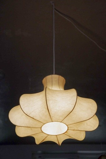A vintage 1960s Cocoon light by Achille Castiglioni designing for Flos