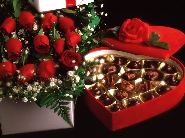 Image result for woman crying over receiving flowers and candy for valentine's day