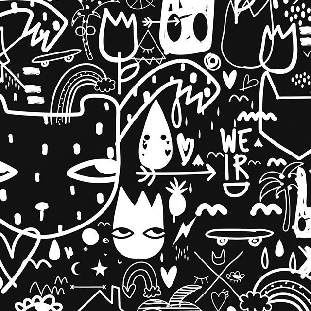 I call him Chaos. ✖️#nadiaflowerdesign #nadiafloweroriginals #blackandwhite #bedding #design #editorial #fashion #kidsroom #kidsstyle #kidsfashion #womensweardesign #scandi #homedecor #graffiti #skateboarding #kidsbedding @dazed @llreps