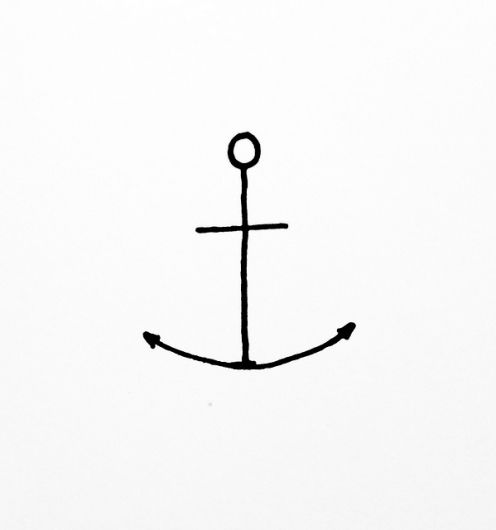 the anchor symbolizes hope, safety, fidelity, stability, security, salvation, good luck, and steadfastness...among other things