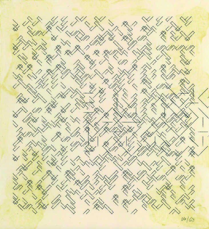 Vera Molnar, No title, 1968