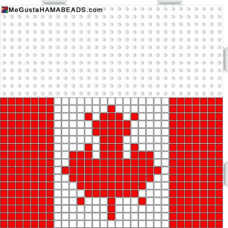 MeGustaHAMABEADS.com: Hama Beads bandera Canada, Reino Unido, Inglaterra y escudo Barça