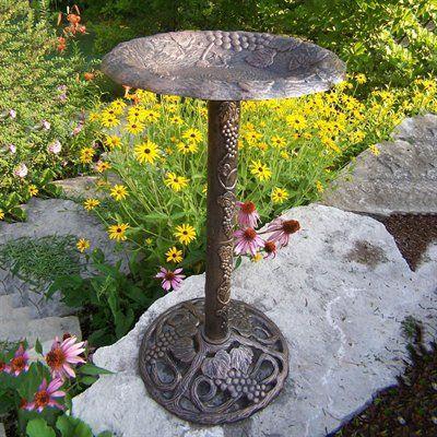 Oakland Living 5156 Vineyard Bird Bath