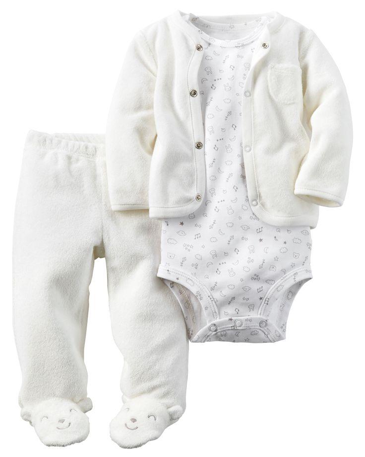 3-Piece Babysoft Footed Pant Set | Bodysuit, Babies and ...