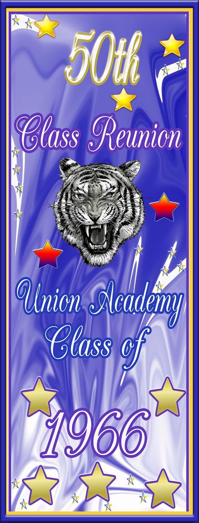 Mesh banner, for 50th class reunion, AllstateBanners.com
