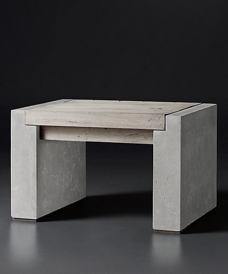 25 best ideas about concrete furniture on pinterest concrete cement table and concrete table Concrete and wood furniture