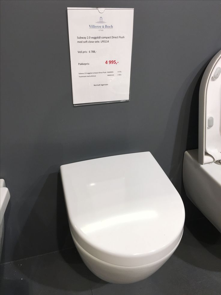 Vilroy & Bosch kompakt vegghengt toalett