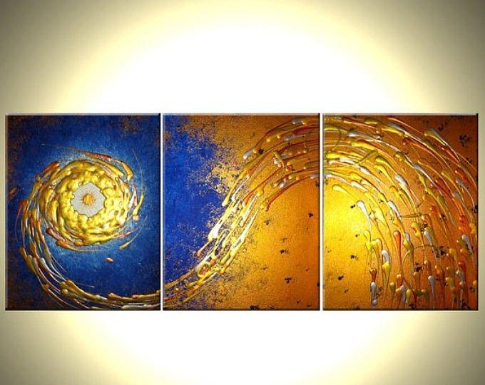 ORIGINAL pintura arte abstracto contemporáneo estrella de la