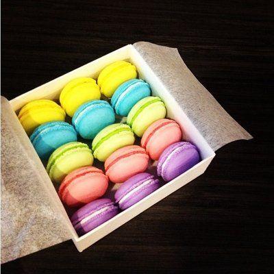 So cute!!! Macaron erasers