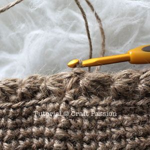 Crochet with Jute Twine | Slip stitch at the end of the round for Star Bottom.