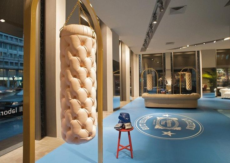 Luxury punch bags by Mathieu Lehanneur for Poltrona Frau